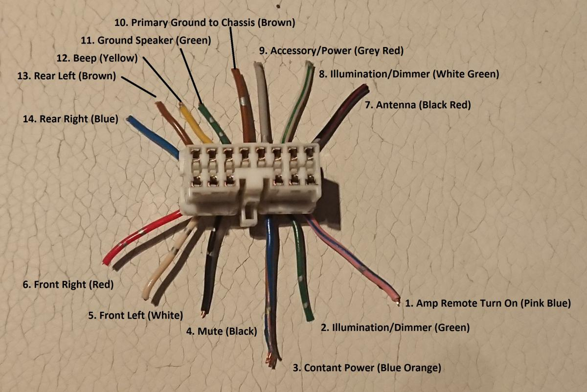 JDM 1990 Speaker Wiring | MR2 Owners Club Forum | Red And White And Blue Wire Speaker Connection Diagrams |  | MR2 Owners Club Forum
